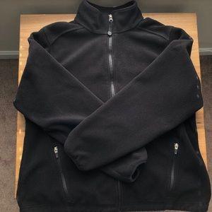 L.L. Bean Black Fleece Full Zip Sweater Jacket